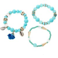 5 Colors Joker Tassel Bracelets Sweet Flowers Retro Multi-layer Round Bead Bracelet & Bangle Ethnic Jewelry
