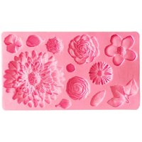 Flowers Silicone Mold DIY 3D Fondant Cake Chocolate Sugar Decorative Mould